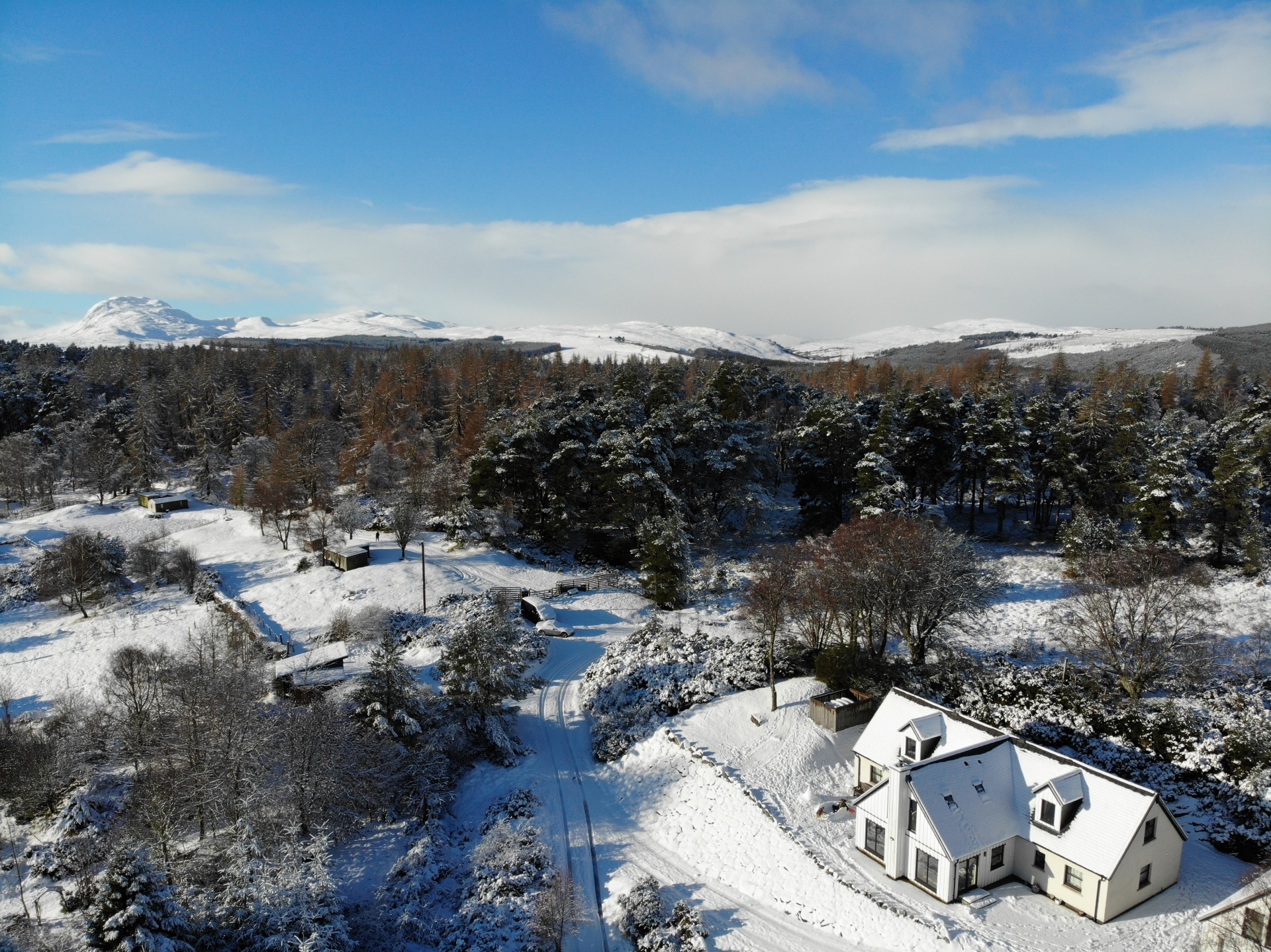 Drovers Lodge - Aerial Winter