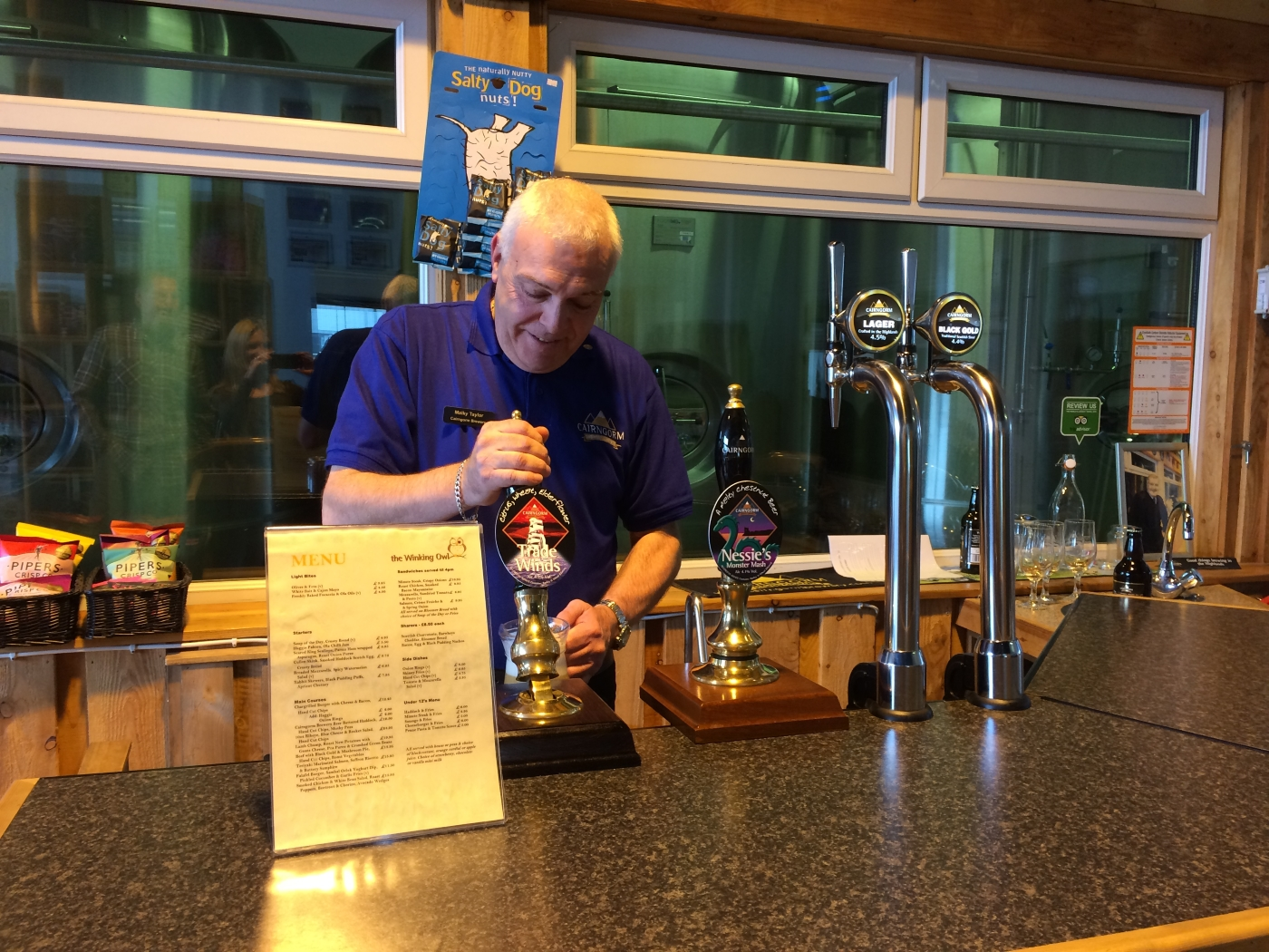 Malky at Cairngorm Brewery